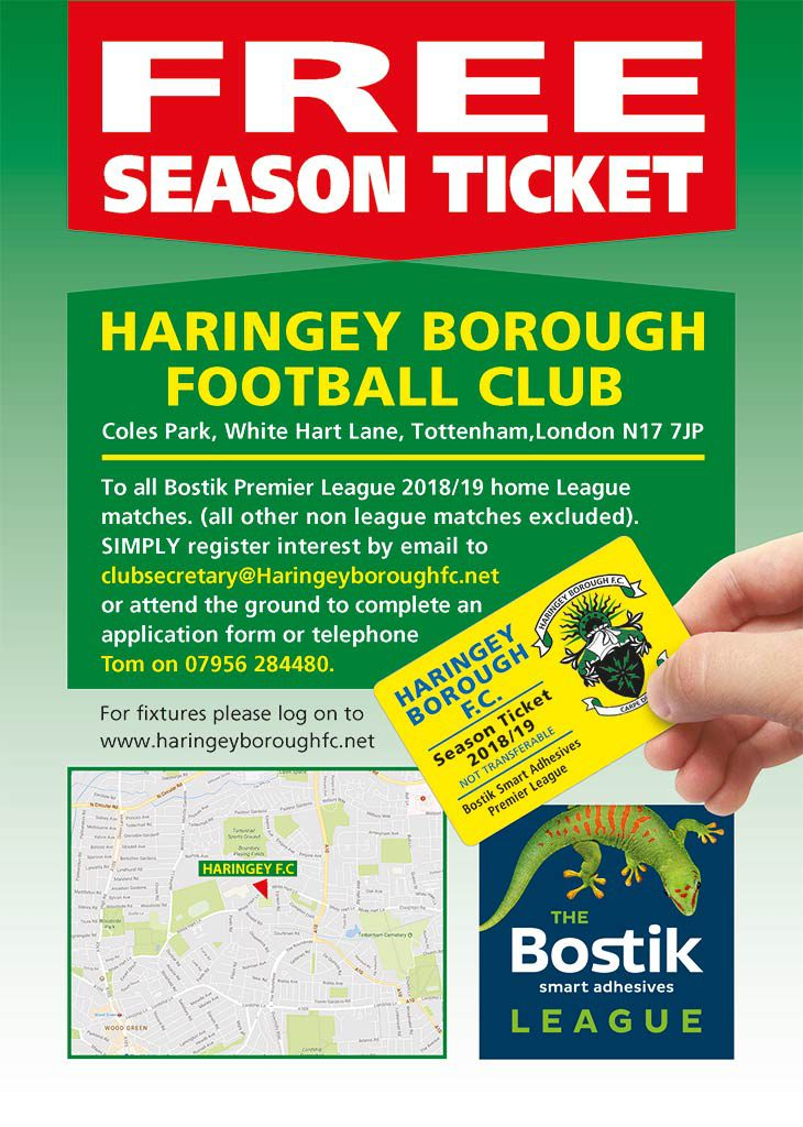 ABSOLUTELY FREE SEASON TICKET OFFER STILL AVAILABLE