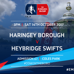 Haringey Borough Play Bostik North Rivals Heybridge Swifts – FA Cup 4th Qualifying Round