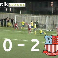 Haringey Borough 0 Bower & Pitsea FC 2