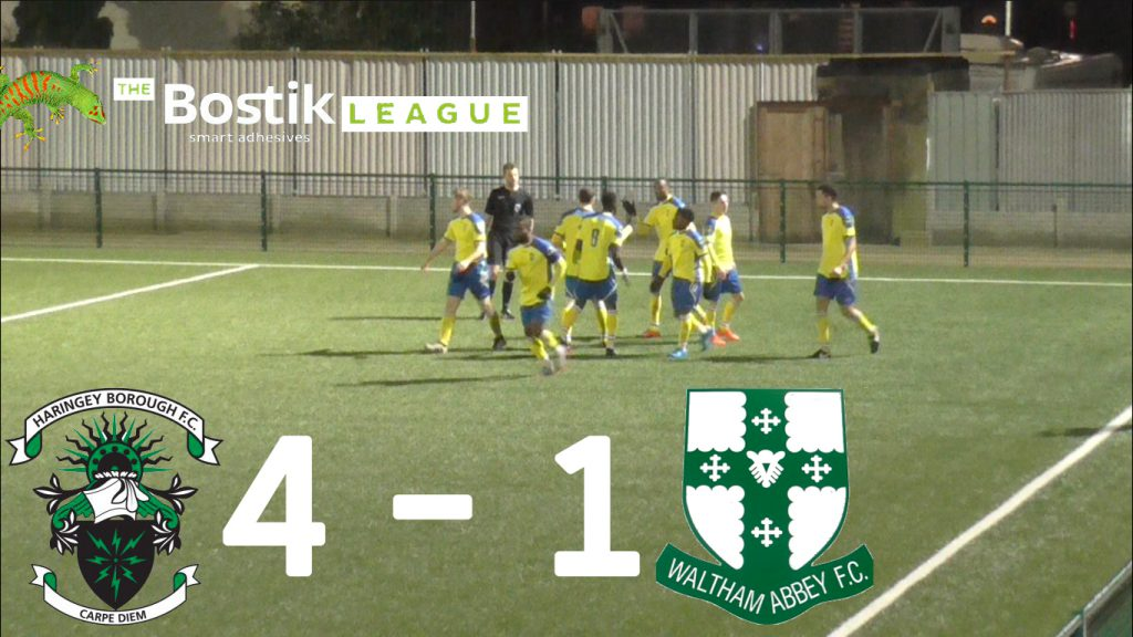 Haringey Borough 4 – 1 Waltham Abbey