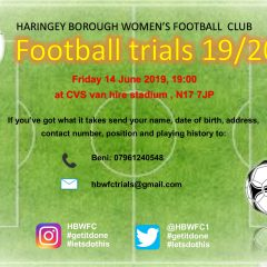 Womens Team Open Trials – Friday 14 June 2019