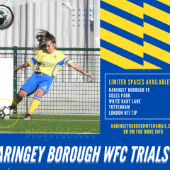 📢📢📢📢📢 HARINGEY BOROUGH WOMEN'S FC TRIALS📢📢📢📢📢