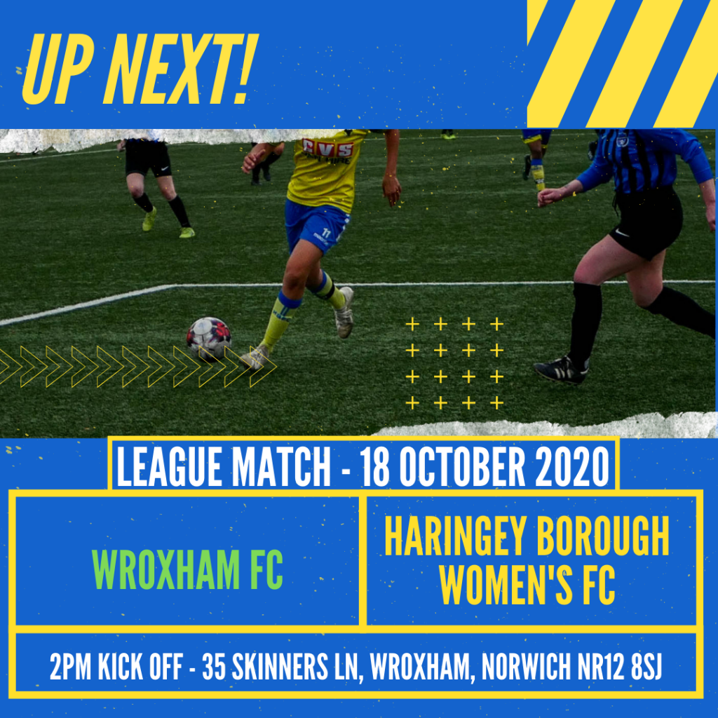 #NextUp – Borough Women travel to Wroxham – 18 October 2020