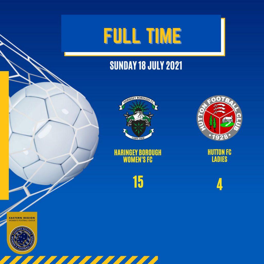18 JULY 2021 – FULL TIME – BORO LADIES WIN 15 -4 AGAINST HUTTON FC LADIES
